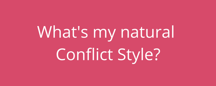Personality test - what's my conflict style