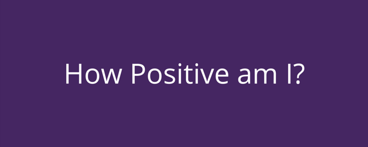 Personality Test - How positive am I